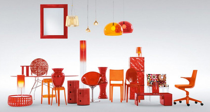 Kartell Orange Red items